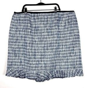 NEW Talbots Petite Plus Size Tweed Ruffle Skirt